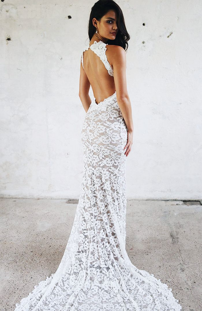 The Naked Wedding Dress Trend Is Happening | Who What Wear