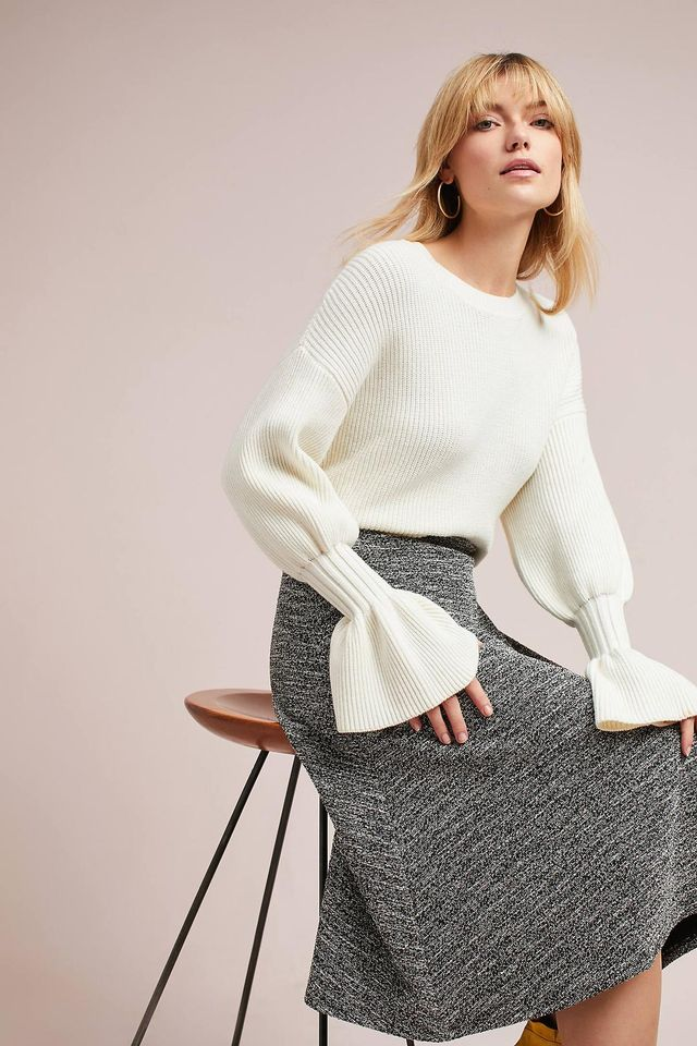 Marce Textured Knit Skirt