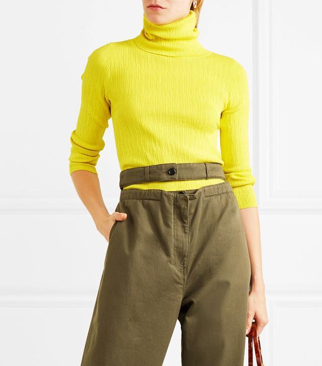 Berto Ribbed-knit Turtleneck Top
