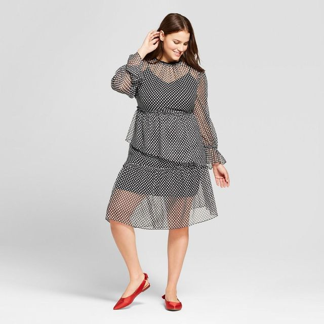 Plus Size Asymmetric Hem Dress