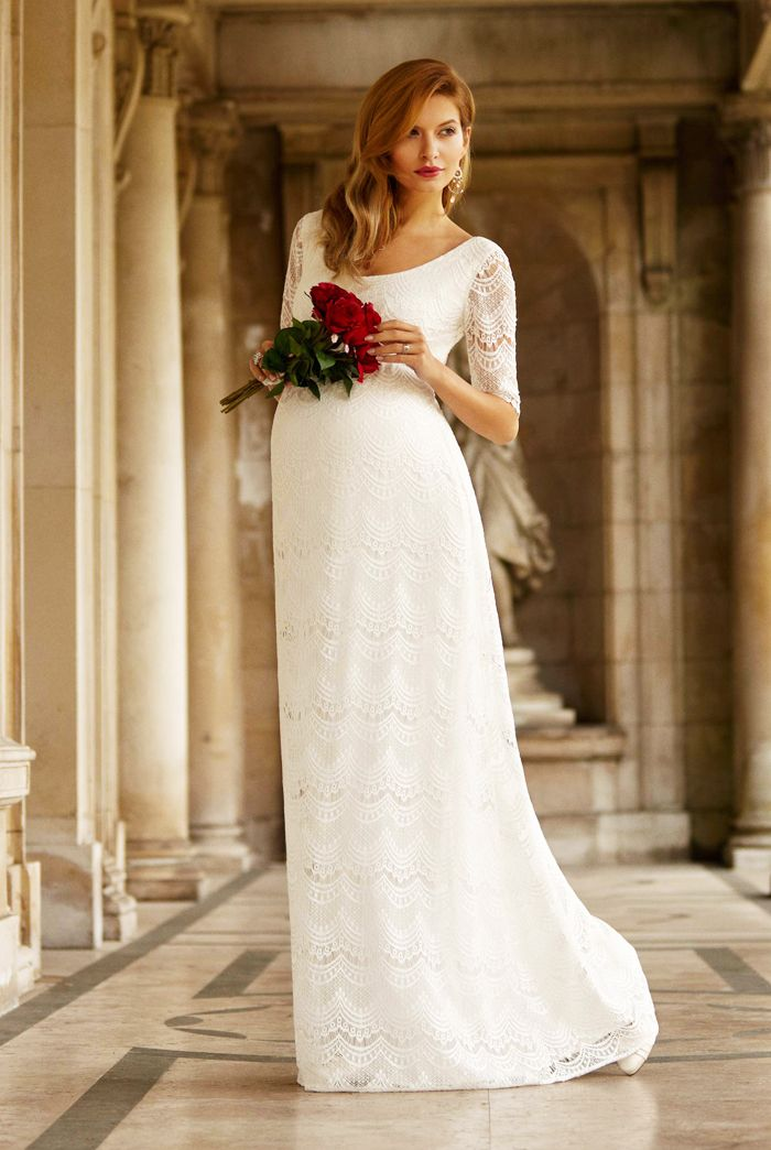 Here S Where To Find The Best Maternity Wedding Dresses Who What Wear
