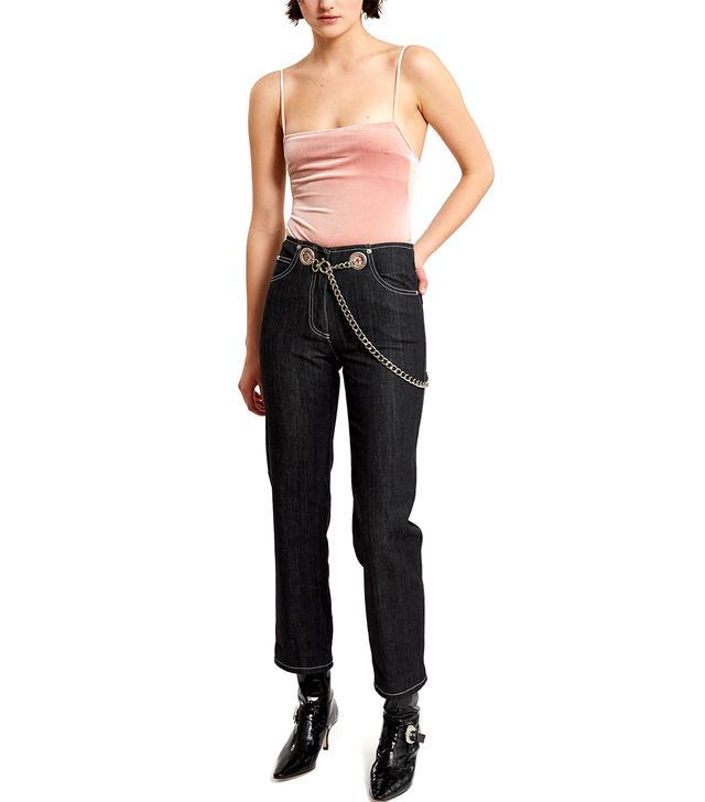 Miaou Tommy Metal Chain Link Belt Jeans