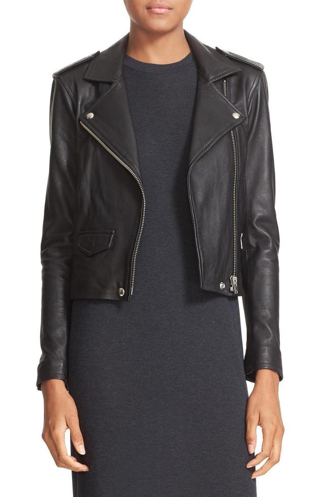Women's Iro 'Ashville' Lambskin Leather Moto Jacket