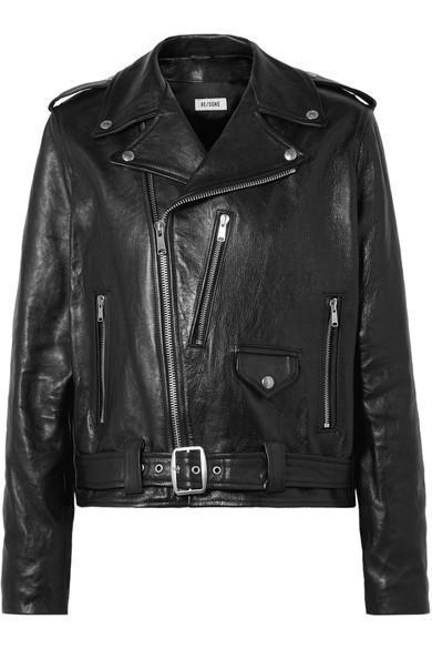 Oversized Leather Biker Jacket