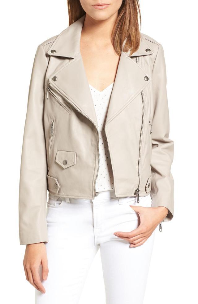 Wes Leather Moto Jacket