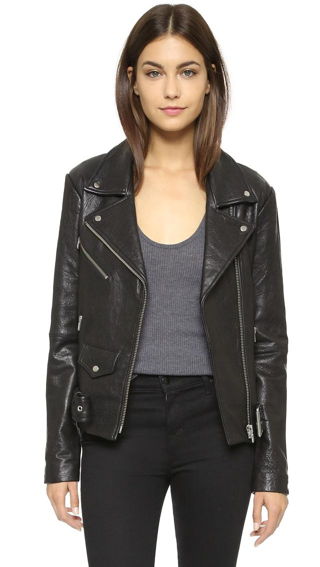 Jayne Classic Leather Jacket