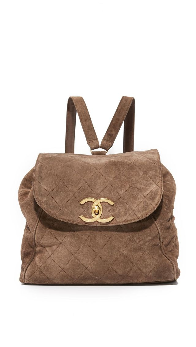 Chanel Suede Backpack (Previously Owned)