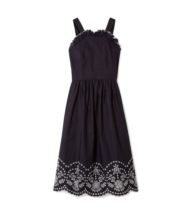 Alouette Broderie Anglaise-trimmed Cotton Midi Dress