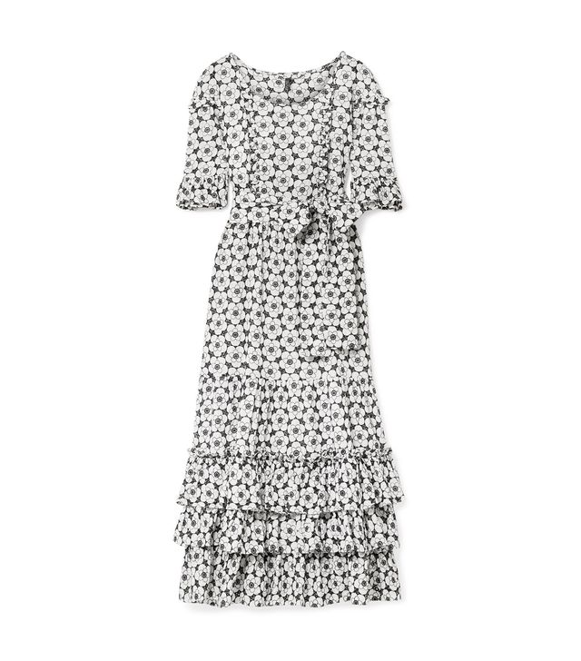 January Ruffled Broderie Anglaise Cotton-voile Maxi Dress