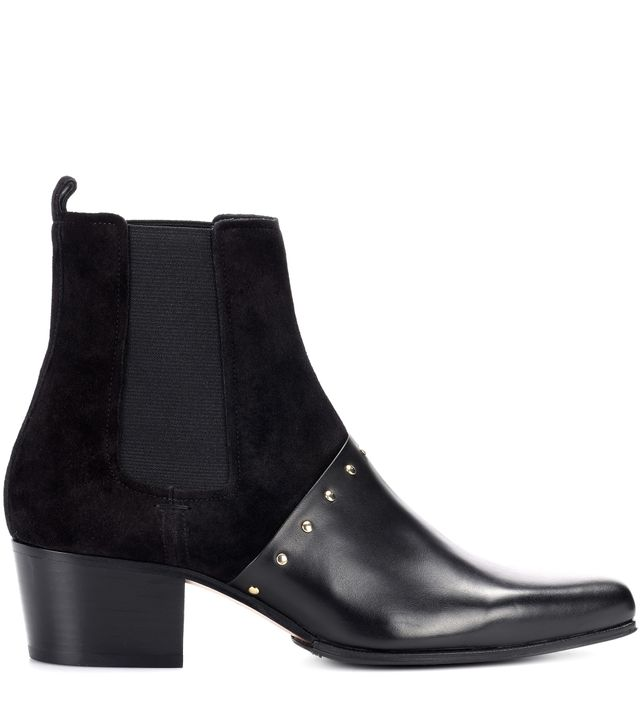 Artemisia leather and suede boots
