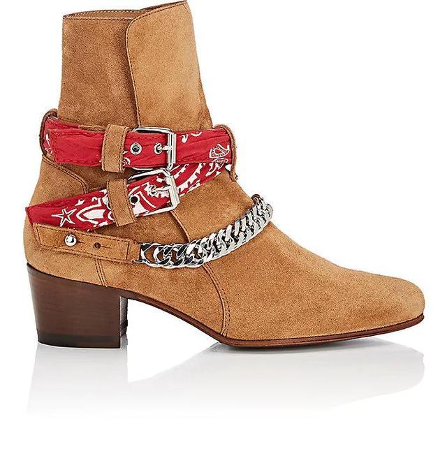 Women's Bandana-Strap Suede Jodhpur Boots