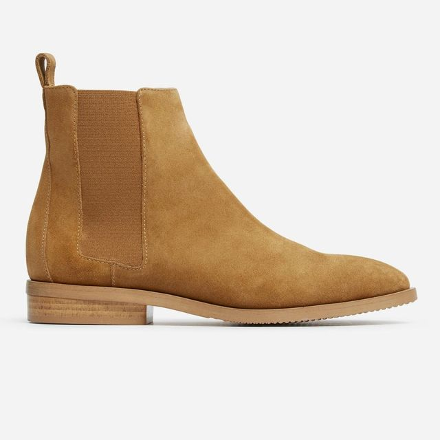 Women's Chelsea Boot by Everlane in Mustard Suede, Size 11