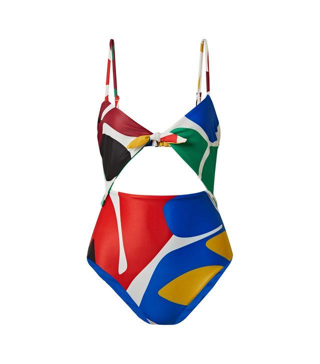 Kia Cutout Printed Swimsuit