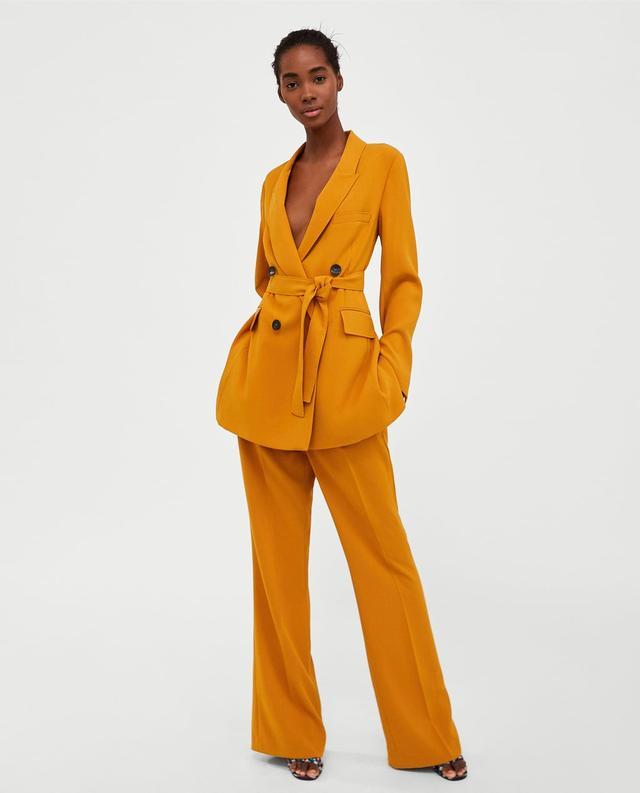 Zara Long Belted Jacket