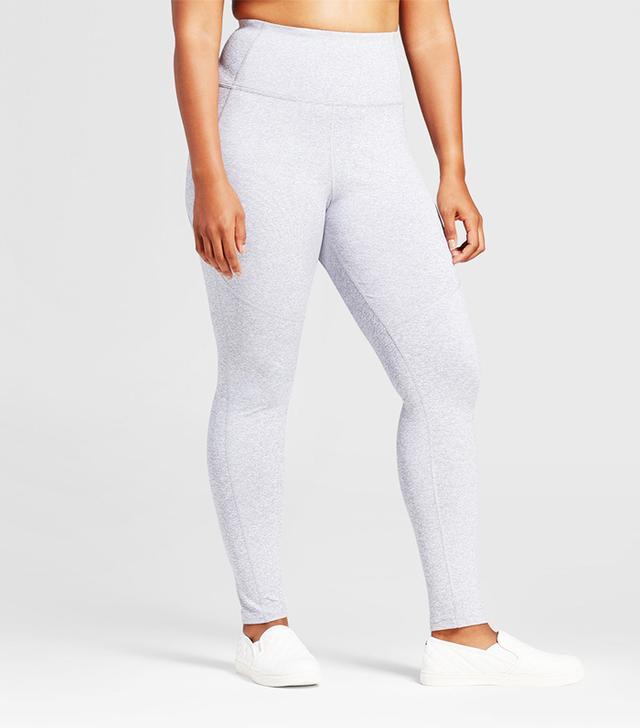 Plus Size High Waist Mini Stripe Leggings