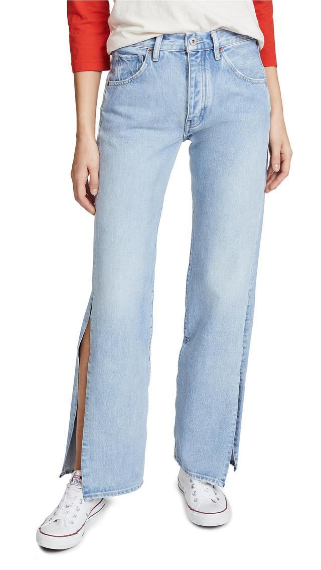 LMC x SHOPBOP Split Arrow Wide Leg Jeans