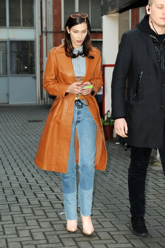 Bella Hadid Western Ankle Boots Who What Wear