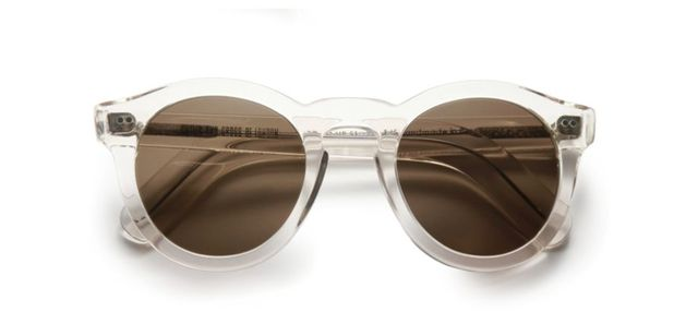 51MM Clear Round Sunglasses