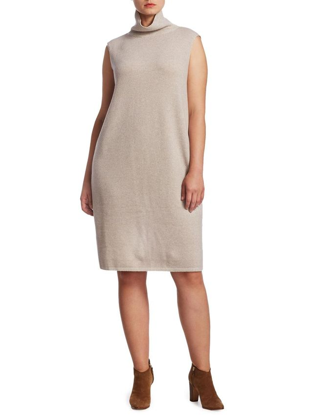 Plus Vanise Wool-Blend Sweater Dress