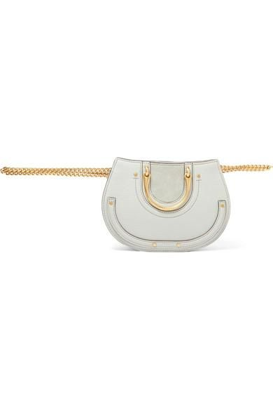 Pixie Mini Suede And Leather Belt Bag