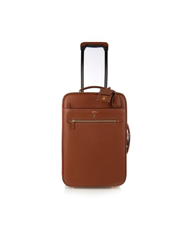 Mark Cross Grained-Leather Suitcase