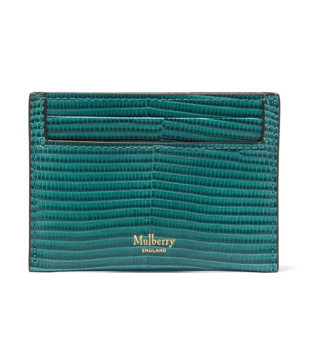 Mulberry Lizard-Effect Leather Cardholder
