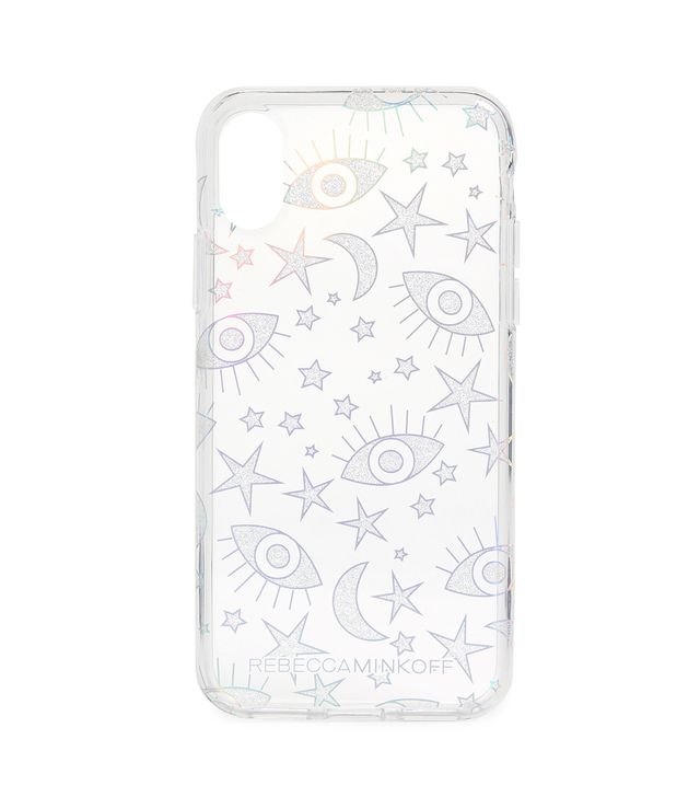Galaxy Icons iPhone X Case with Glitter