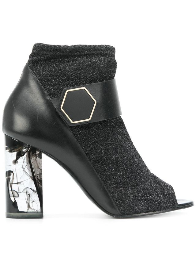 Mica peep-toe booties