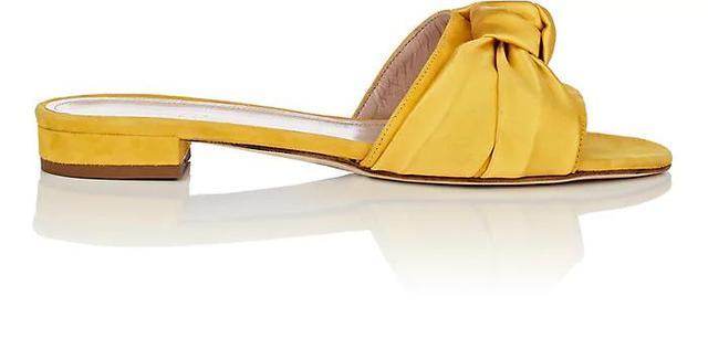 Women's Knot-Detail Suede & Satin Sandals