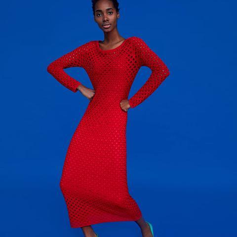 Long Open Knit Dress