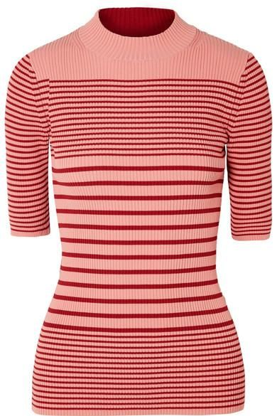 Winnie Striped Ribbed Cotton-Blend Sweater