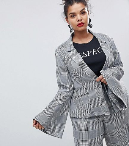 ASOS Unique 21 Fitted Blazer With Flared Sleeves