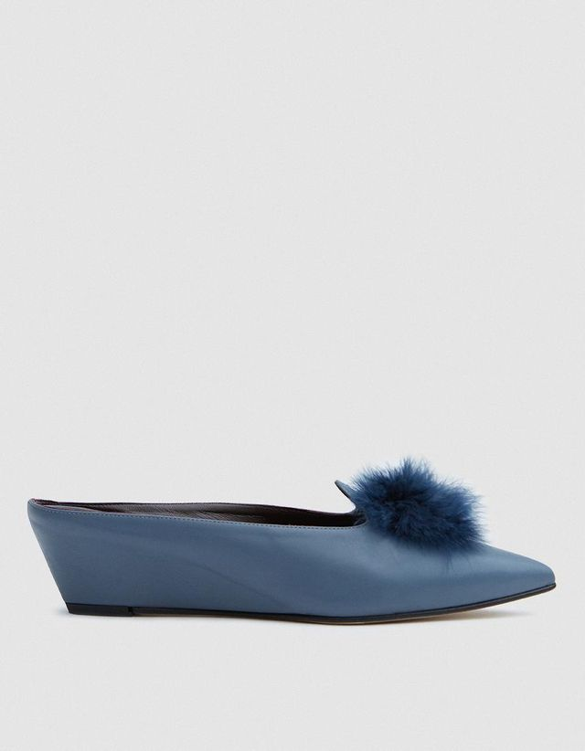 Castaigne with Marabou in Blue