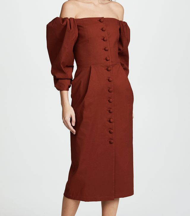 Structure Sleeve Pencil Dress