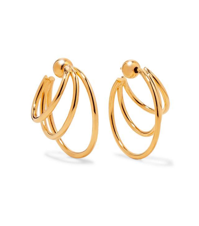 Gold Vermeil Hoop Earrings