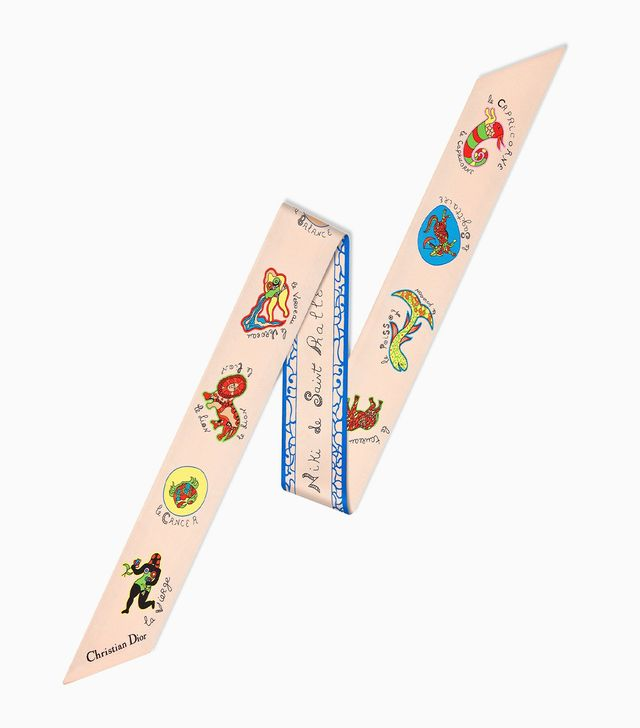 Dior Mitzah Scarf In Multi-Colored Silk Twill