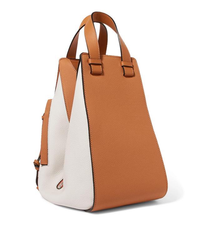 Hammock Two-tone Textured-leather Shoulder Bag