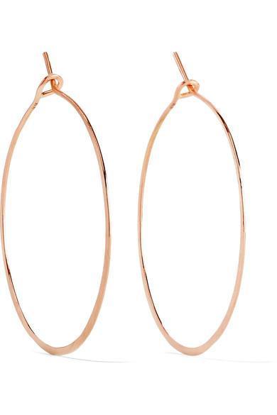 Hammered 18-karat Rose Gold Earrings