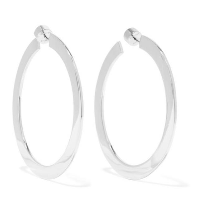 Jennifer Fisher Baby Drew Silver-Plated Hoop Earrings