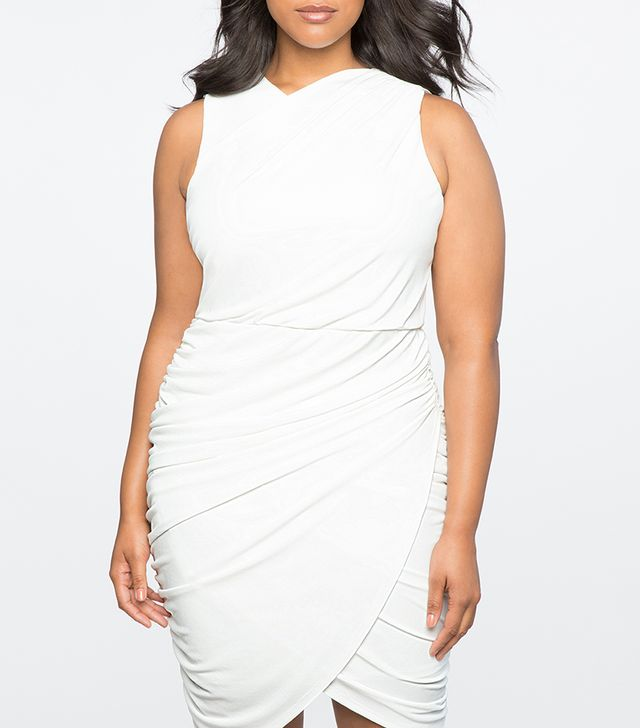 Eloquii Fitted Faux Wrap Dress