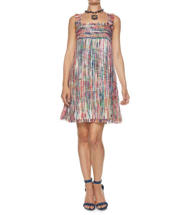 Chanel Cotton Blend Tweed Shift Dress