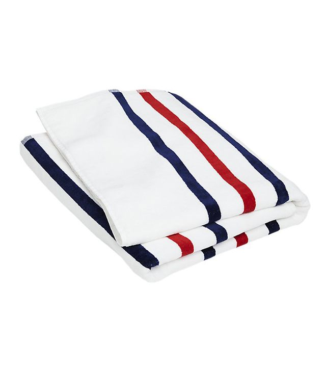 Red, White, Blue Stripe Beach Towel