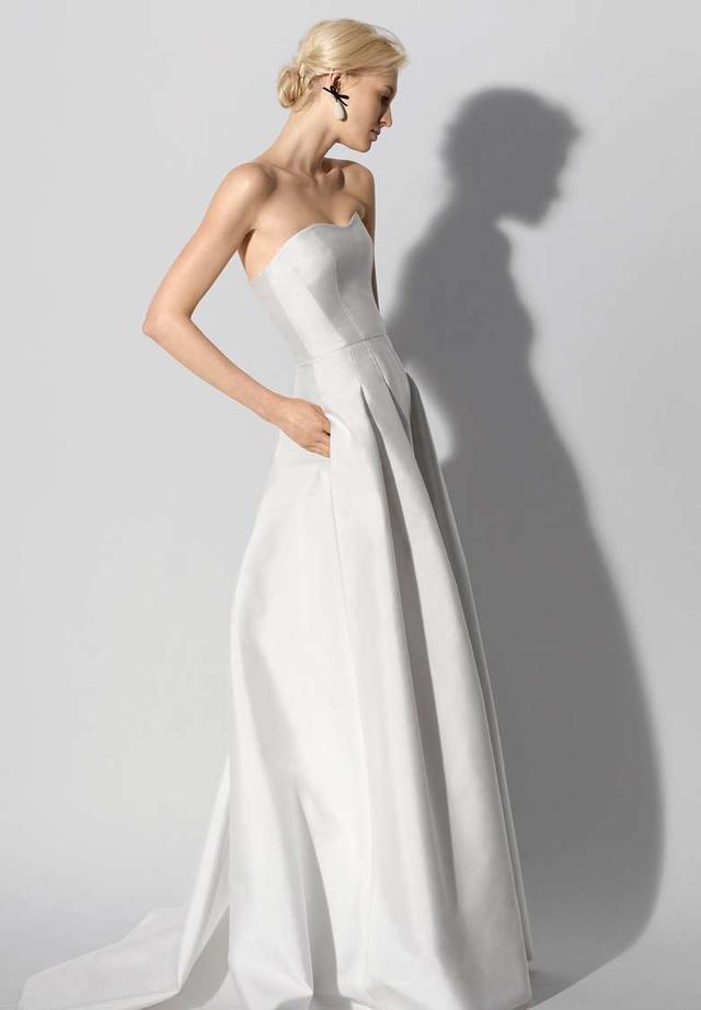 Fabel Strapless Silk Mikado Gown