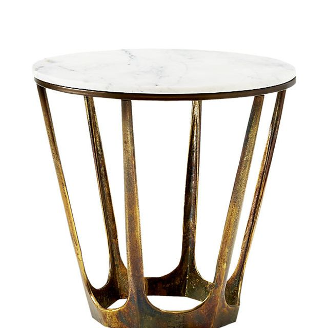 Parker White Marble Side Table