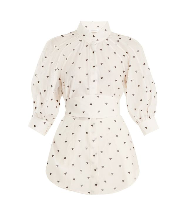 Painted Heart embroidered cotton-blend shirt