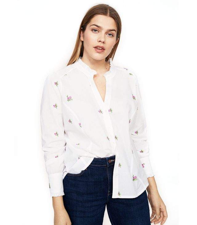 Violeta Embroidered Flowers Shirt