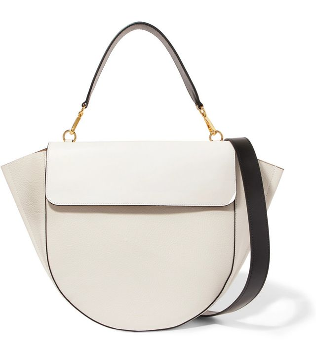 Hortensia Smooth And Textured-leather Shoulder Bag