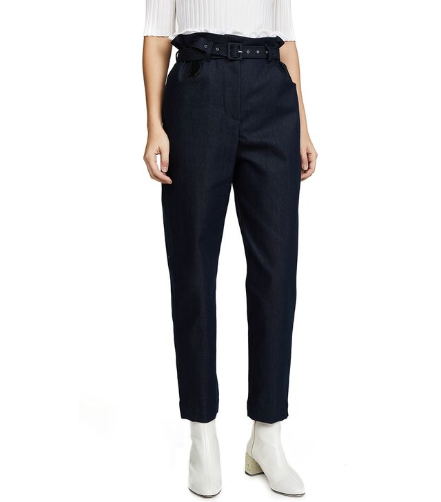 Paperbag Cotton & Silk Trousers