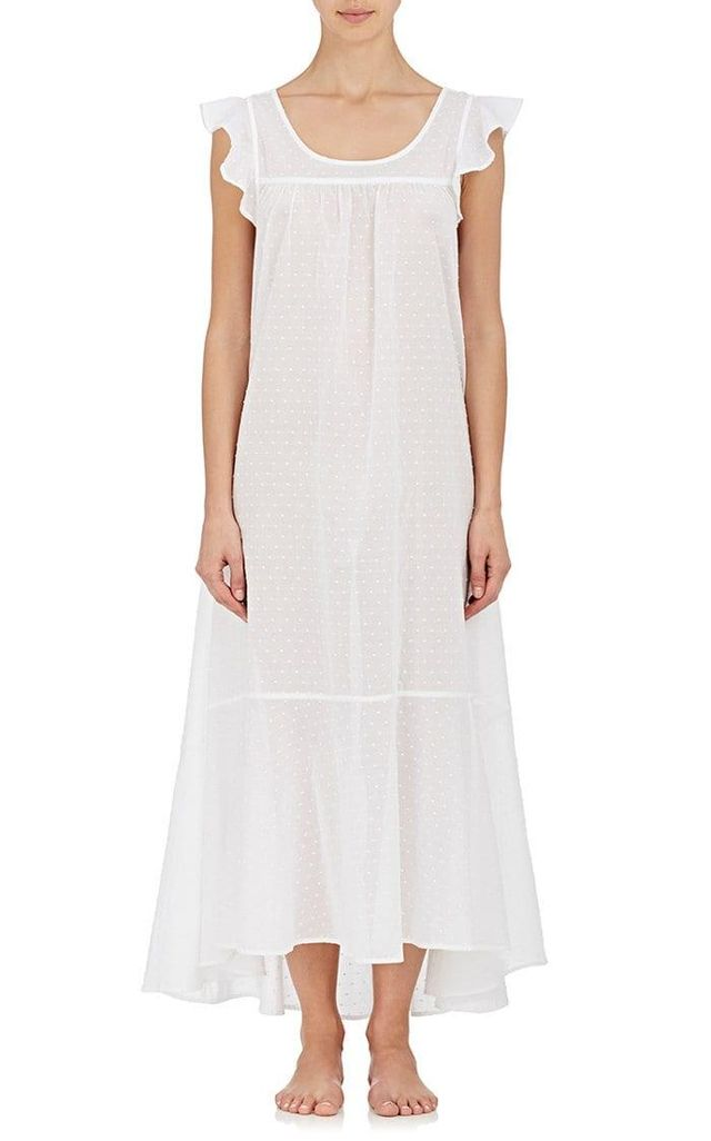 Women's Cotton Fil Coupé Long Nightgown