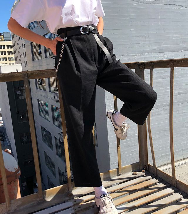 Courtyard L.A. Pure Wool Pleated Trousers